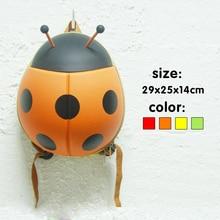 Bolsos de escuela los niños mochila mochila kids regalos chica kindergarten mochila de dibujos animados lindo Escarabajo niños viajan bolso de la carretilla bolsas de juguetes