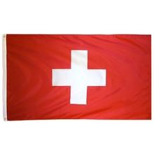 Johnin 90x150 см белый крест ch Швейцарский флаг