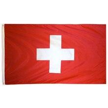 Johnin bandeira da suíça, 90x150cm, branco, cruz
