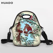 Student Lunch Bag Neoprene Tote bag With shoulder belt for Women Kids Baby Girls