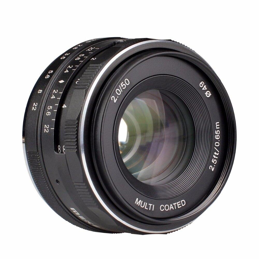 MEKE Meike MK-50mm F2.0 50mm f 2.0 Large Aperture Manual Focus lens Fujifilm X Mount Mirrorless APS-C Camera X-Pro2 X-E3 X-T1 X-