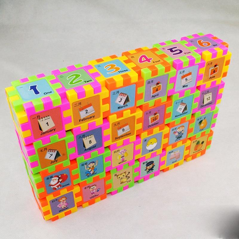 68 PCS Baby Kids digita fruit portrait Building Blocks Educational Learning Construction Developmental font b Toy