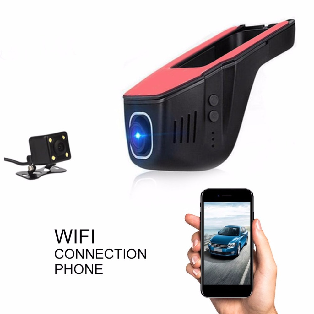 Full HD 1080P Invisible Wifi Car SUV DVR Video Recorder Dual Lenses Camera G-Sensor Motion Sensor Automobile Data Recorder pvt 898 5g 2 4g car wifi display dongle receiver airplay mirroring miracast dlna airsharing full hd 1080p hdmi tv sticks 3251