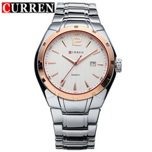 Original CURREN Lujo de la Marca Correa de Acero Inoxidable Auto Fecha hombres Reloj de Cuarzo Ocasional Relojes Hombres Reloj Relogio masculino