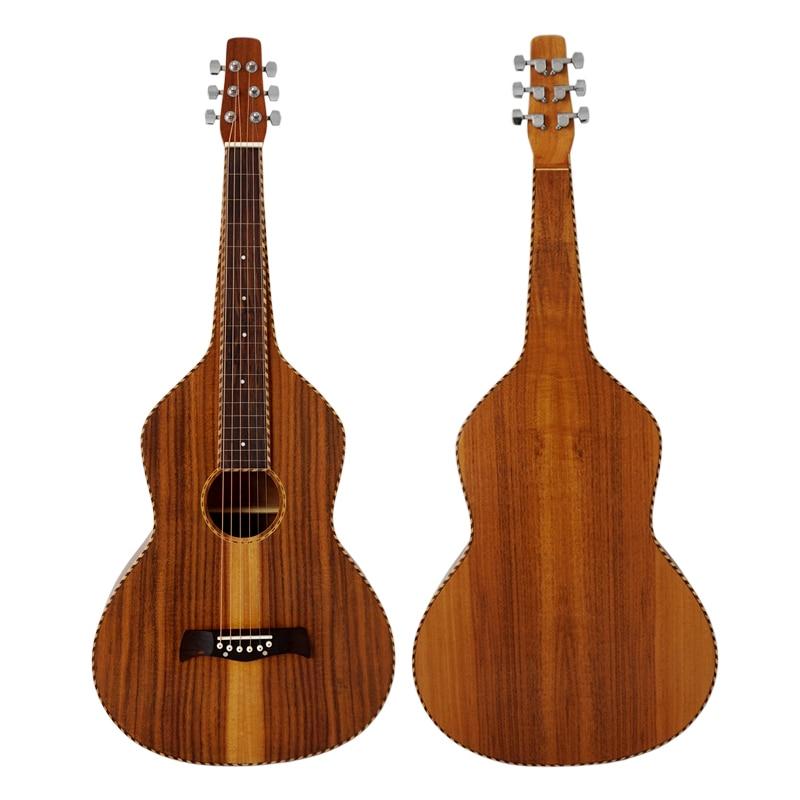 Aiersi marque corde reliure Koa Body Wessenborn guitare acoustique hawaïenne glisser guitare avec étui gratuit HG-007B