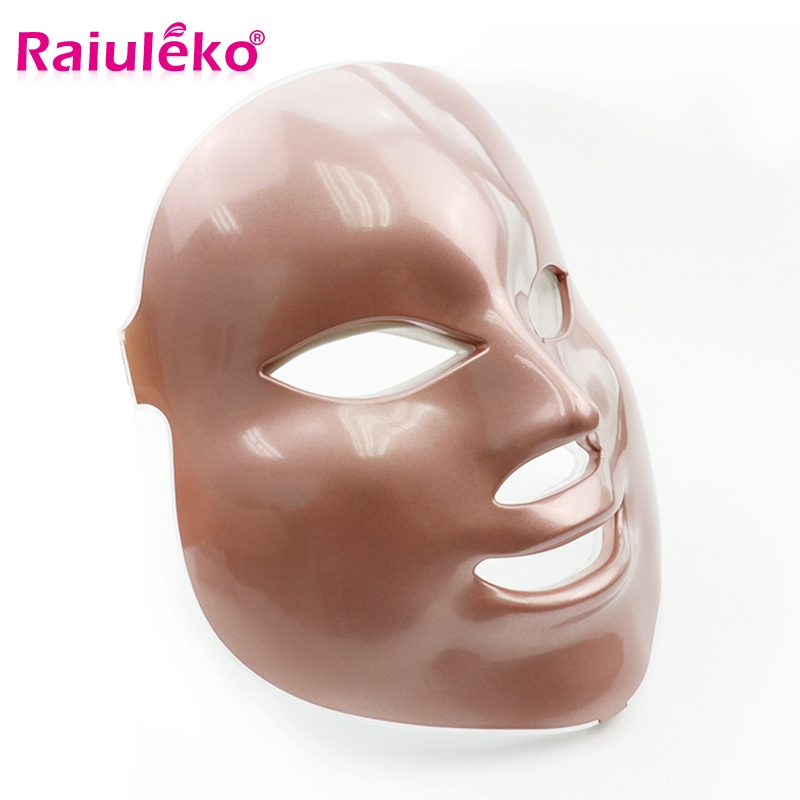 Led Photon Therapy 2/7 Colors Light Facial Mask Microcurrent Led Mask Rejuvenation Acne Whitening Anti-wrinkle Face Beauty Salon