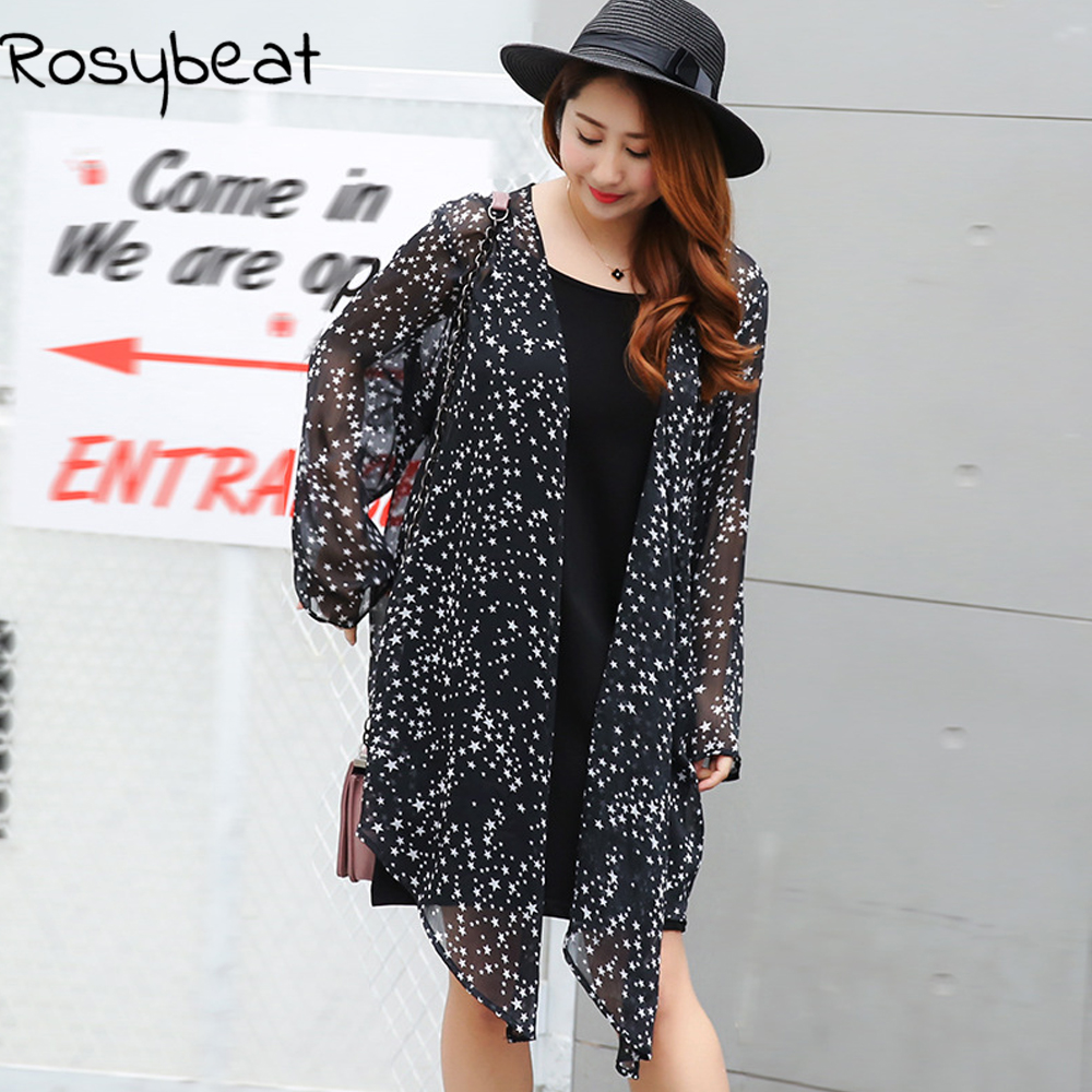Aliexpress.com : Buy Chiffon Kimono Cardigan Plus Size Women ...