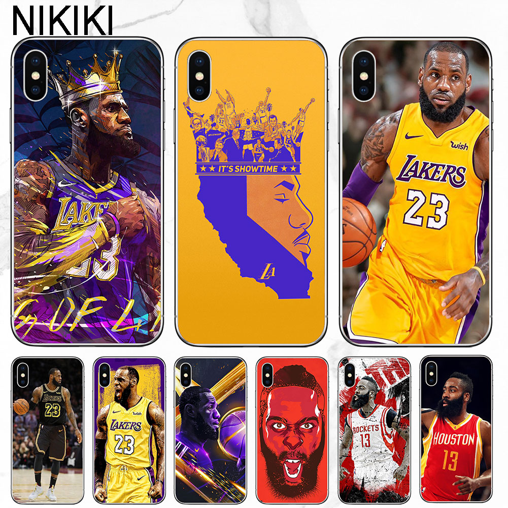 71240018fc ciciber Coque Capinha LeBron James Harden Phone Case For iPhone X XR XS MAX  6 7 6s 8 Plus 5s SE Basketball Soft TPU Covers Funda