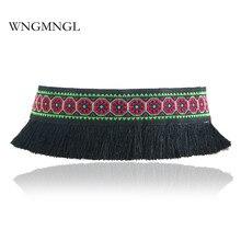 WNGMNGL 2018 New Handmade Ethnic Cloth Statement Collar Fashion Tassel Choker Necklace  Boho Collier Jewelry For Women Gift