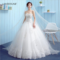 Real Ball Gown Bridal Dress Vintage Muslim New Custom Plus Sizes Sweetheart Crystal Beads Sequined Lace Wedding Dress Princess