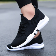 2018 fall outdoor hot sale walking flat running sports shoes for adult men lace-up male Brand sneakers comfortable mesh trainers