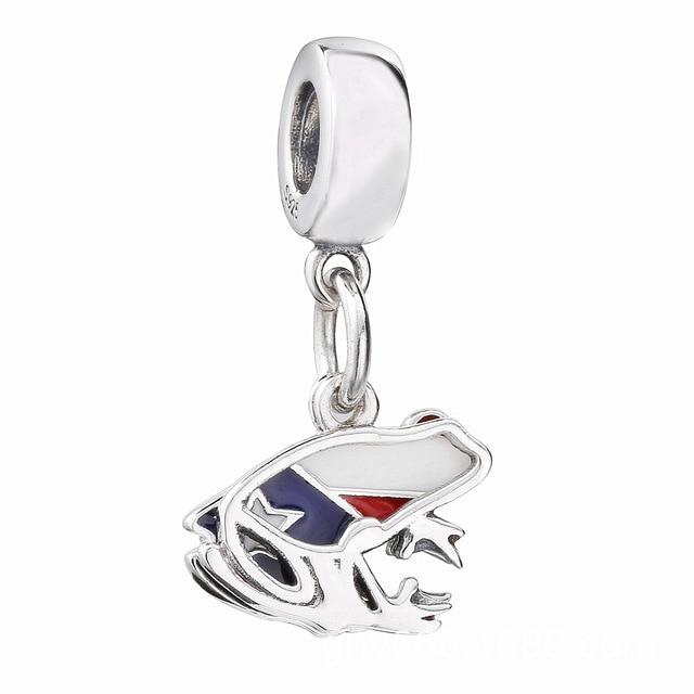 be6153bcb 2018 Summer 925 Sterling Silver Bead Love Puerto Rico Dangle Charm Fit  Original Pandora Bracelet Bangle