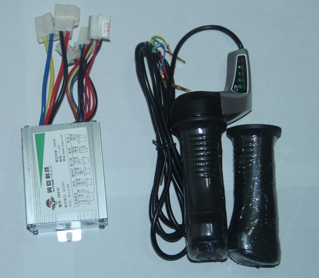 24V 500W DC motor Brushed Controller +Electric Scooter Throttle ...