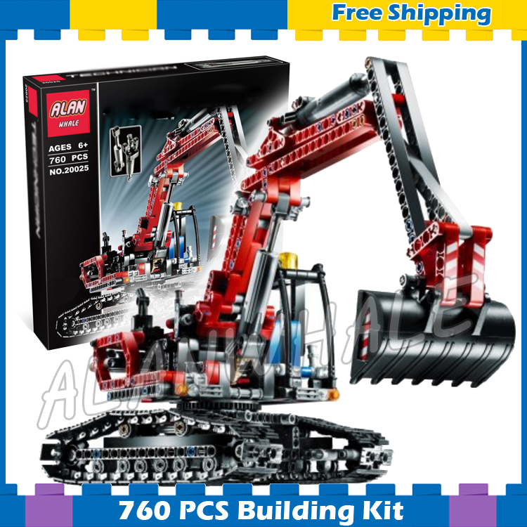 760pcs Techinic 2in1 New Series Excavator Loader 20025 DIY Model Building Kit Blocks Gifts Sets Boys Sets Compatible With lego 760pcs techinic 2in1 new series