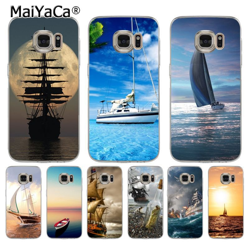 Cellphones & Telecommunications Maiyaca Ship Moon Ocean Sunset Transparent Soft Tpu Phone Case Cover For Samsung Galaxy S7 S6 Edge Plus S5 S4 S8 Plus Case