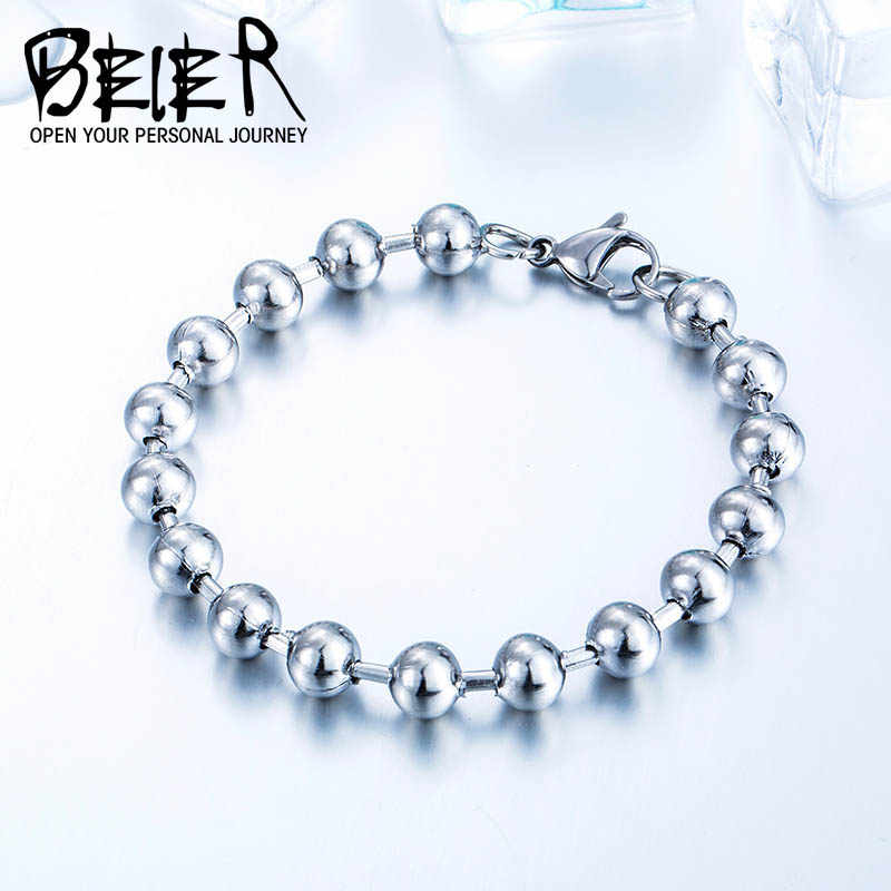 BEIER New Design Stainless Steel  ball bracelet Simple Man's Jewelry For Man BR-C040