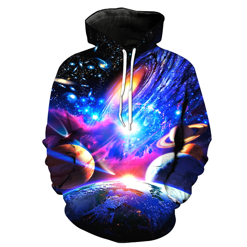 aa9f44869db0 Cloudstyle Space Sweatshirts Men 3D Hoodies Colorful Planet Print  Tracksuits Metal Tiger Animal Pullover Male Hooded Unisex Tops