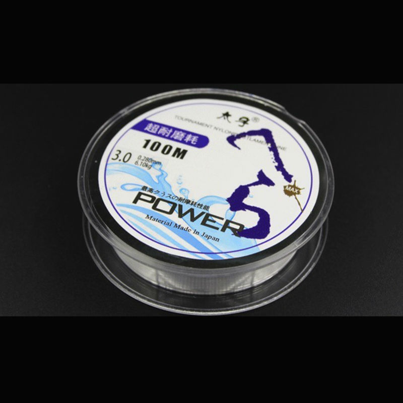 100m nylon super strong fishing line monofilament peche for Strong fishing line