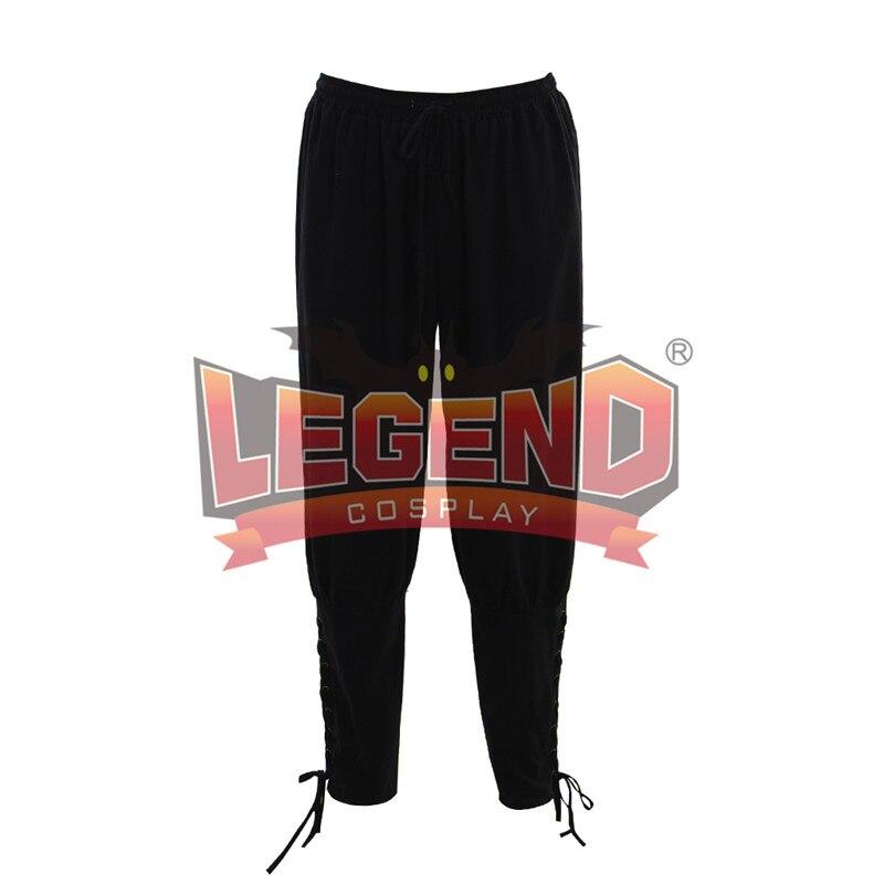Men's Medieval Renaissance pants Trouser black pants