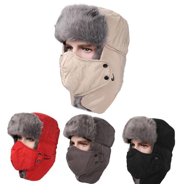 2016 Cotton Winter Lei Feng Hat For Men Women Outdoors Waterproof Thickening Warm cap ski balaclava Cycling Motorcycle face mask