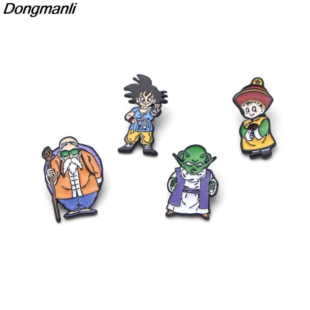 P3206 Wholesale 20pcs/lot Dragon Ball Z Metal Enamel Pin Brooches Cartoon Creative Metal Brooch Cool Pins Hat Badge Jewelry-in Brooches from Jewelry & Accessories    2