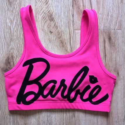 e6fbfd283b0 Women's new summer european fashion candy neon barbie pink barbie letter  print sexy short sport tank vest bustier crop top-in Tank Tops from Women's  ...