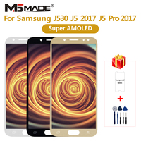 Super AMOLED For Samsung Galaxy J5 pro 2017 J530 LCD Touch Screen Digitizer For Galaxy J5 2017 J530F J530FM Assembly Part