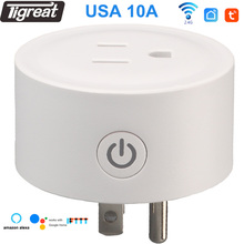 Smart Socket Wifi Plug usa Two Power Indicator Timer Remote Control Tuya Alexa Google Home Outlet us Electrical Socket Switch