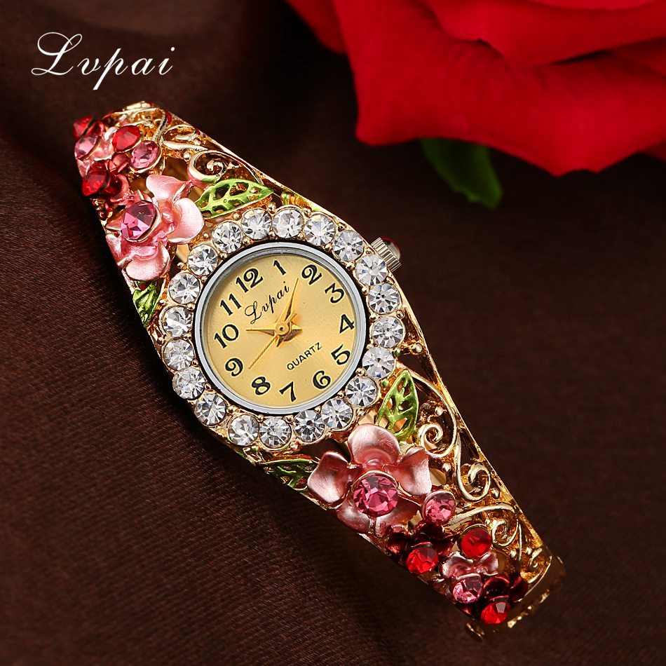 Lvpai 2018 New Brand Women Bracelet Watch Women Fashion Alloy Wrist Watches Women Dress Watches Fashion Gift Quartz Watch