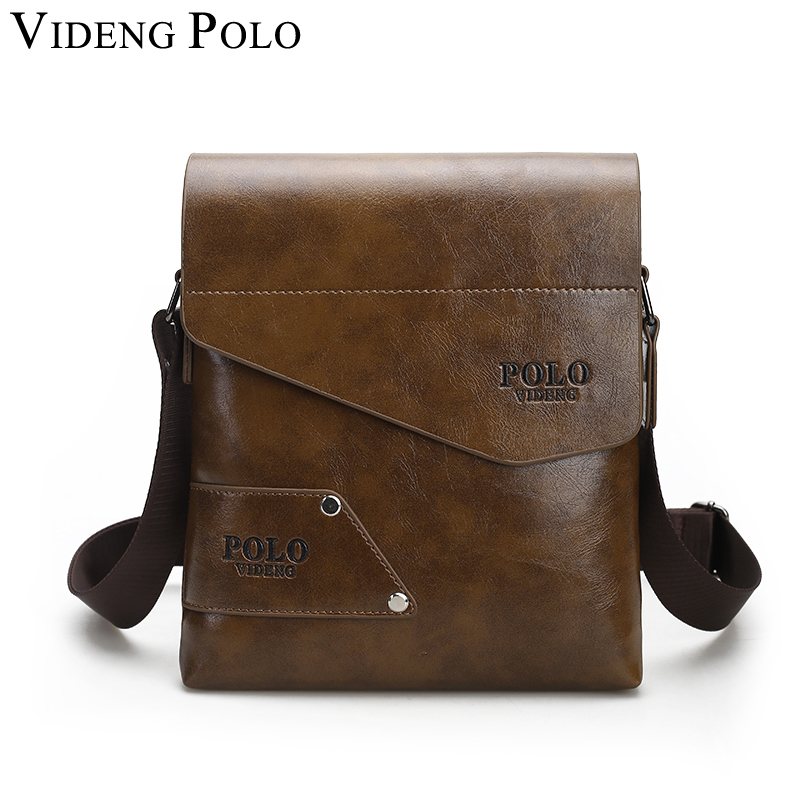 VIDENG POLO hot sale business mans messenger bag leather briefcase Single shoulder bag famous brand crossbody bags free shipping