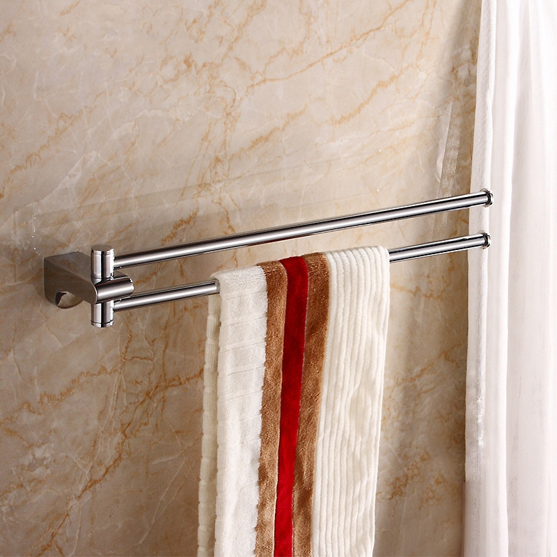 Bathroom Accessories High Quality Chrome Plating Movable Brass Bath Towel Holder Towel Bar
