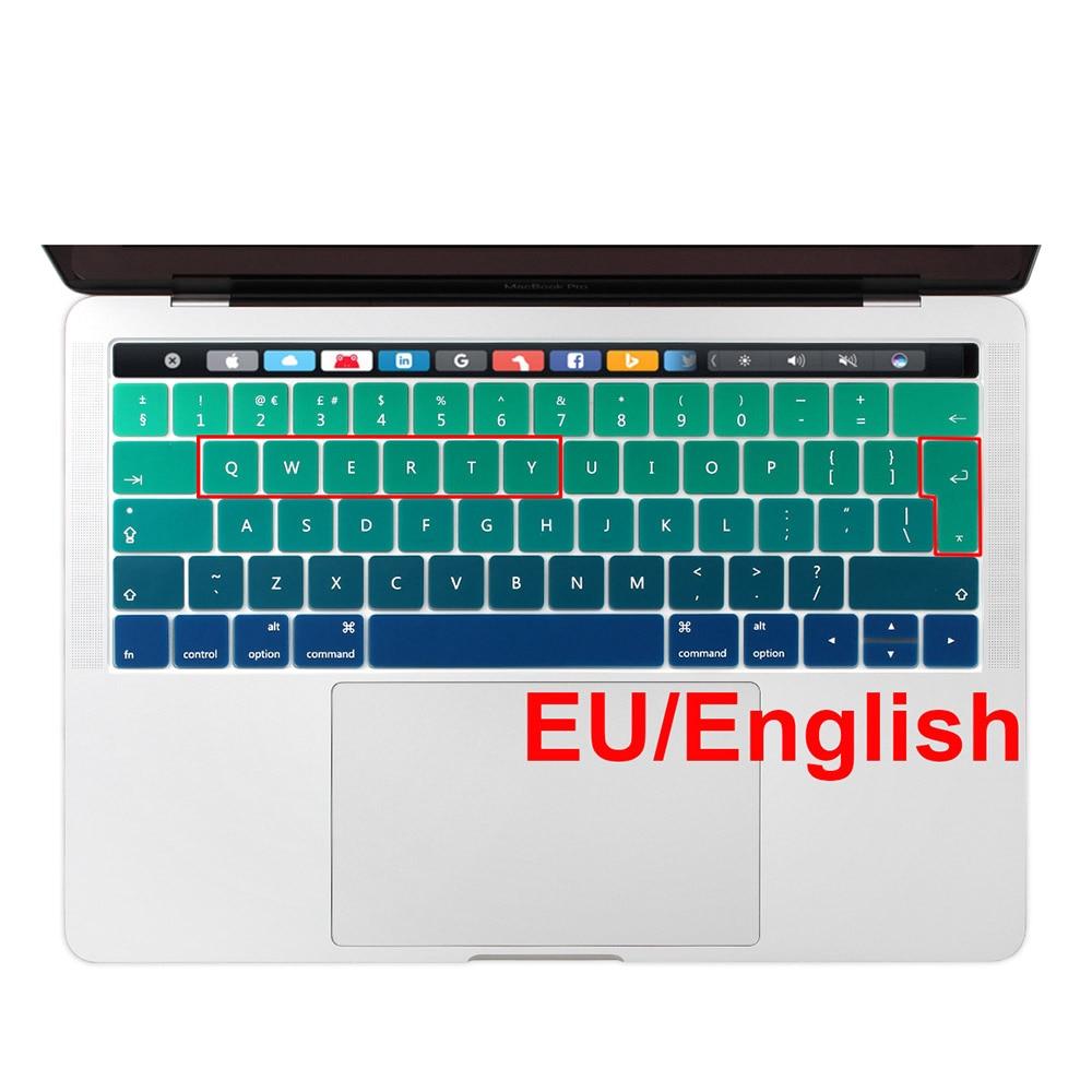 Gradient Pink Silicone EU Engels Toetsenbord Cover Stickers voor - Notebook accessoires - Foto 2