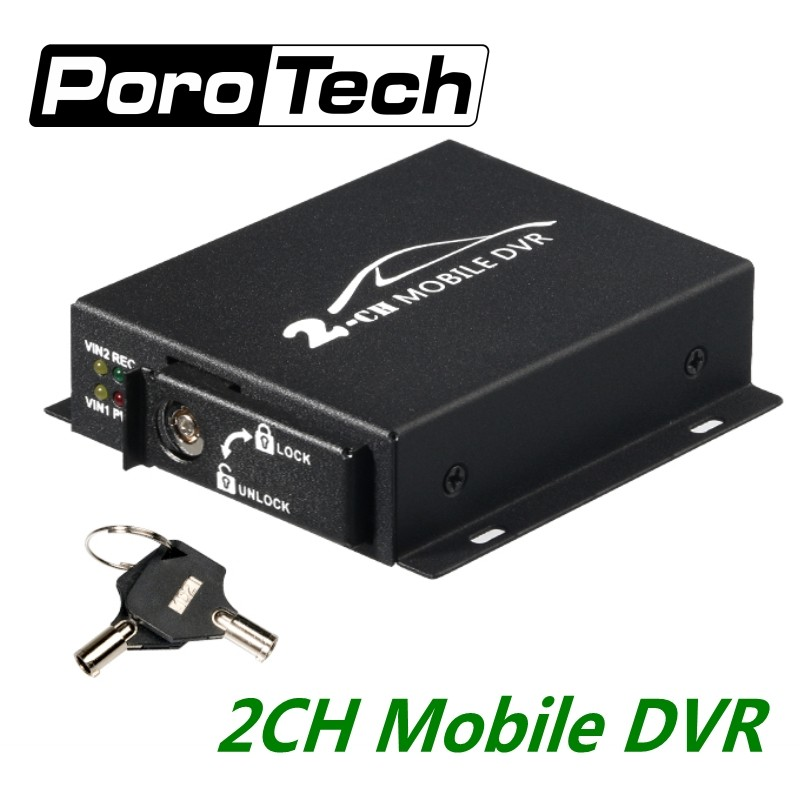 5pcs/lot mini Mobile DVR 2CH CAR DVR Realtime 128GB SD Card Recording Bus Vehicle Truck Car Mobile DVR Recorder System with Lock