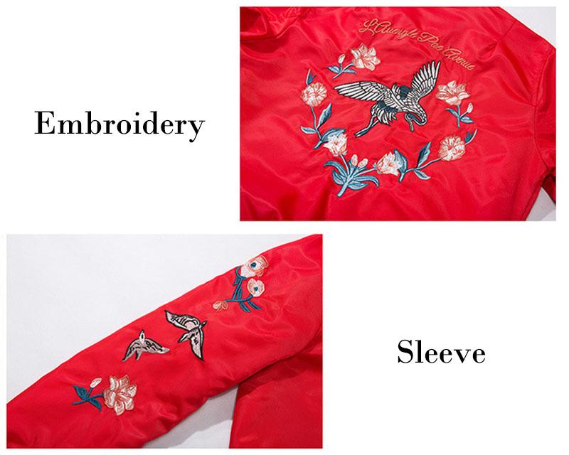 Aolamegs Bomber Jacket Japanese Embroidery Thin Men's Jacket Couple Hip Hop Fashion Outwear Autumn Men Coat Baseball Jackets New (14)