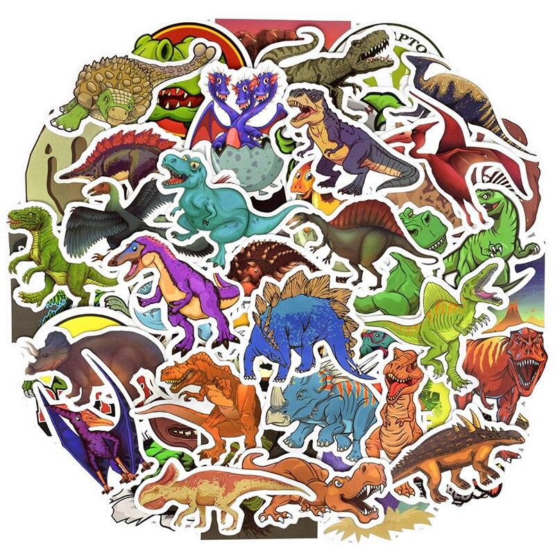 50 Pcs Dinosaurussen Stickers Voor Koffer Skateboard Laptop Mobiele Telefoon Motorfiets Fiets Auto Accessoires Jurassic Park Diy Stickers