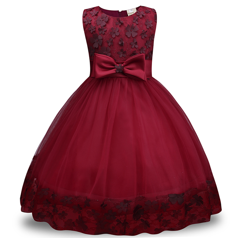 Summer Kids Girls Clothing Dresses Sleeveless Lace Girl Princess Costume Dress Children Party Wear Tulle Prom Gown Formal Dress summer kids girls lace princess dress toddler baby girl dresses for party and wedding flower children clothing age 10 formal