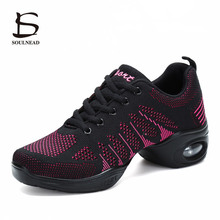 Breathable Fly-weaving Mesh Women Dance Shoes Soft Outsole M