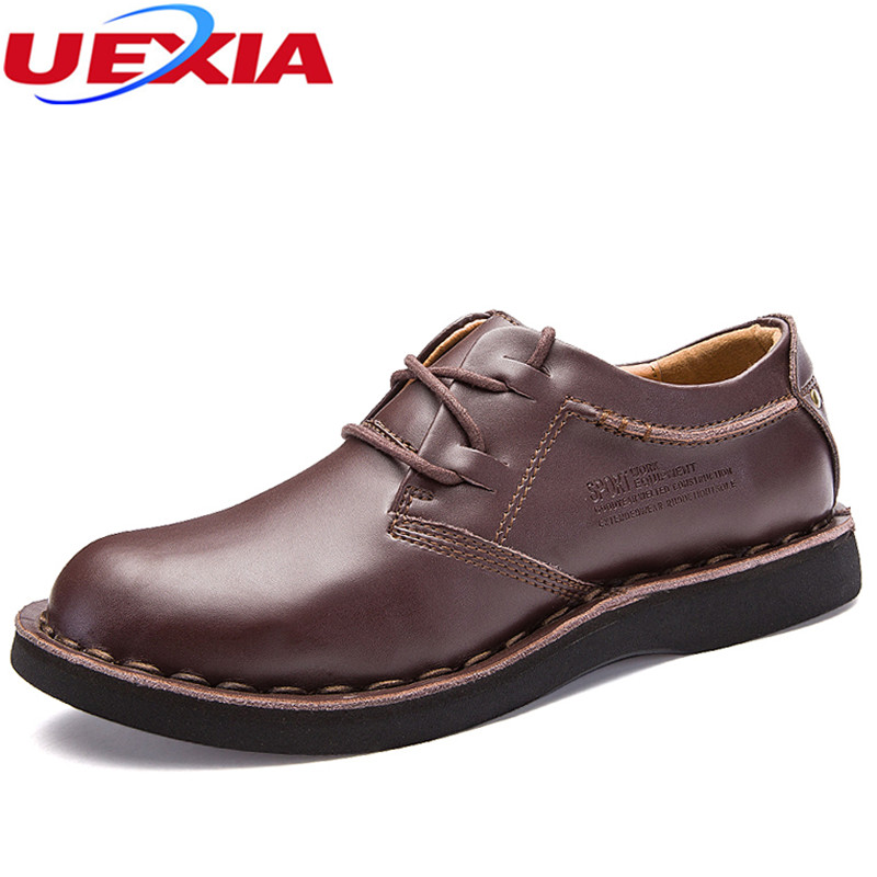 Causal Men Shoes Leather High Quality Oxford Fashion Lace-up Dress Shoes Outdoor Sewing lines Work Shoe Sapatos Zapatos Hombre