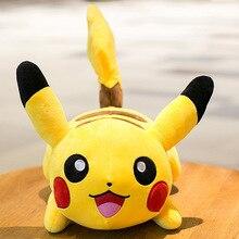 цена на Hot Sale Cute Pikachu Plush Toys Kawaii Anime Characters Stuffed Soft Doll Kids Toys Children Birthday Christmas Gift home decor