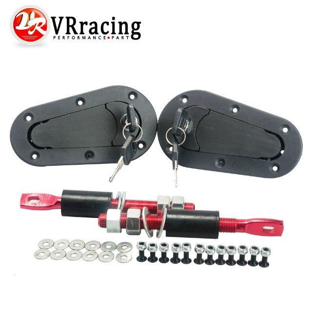 VR RACING-JDM D1 Plus Flush Hood Latch und Pin Kit Racing Fallenschlösser Locking Haube Kit VR-BPK-D21