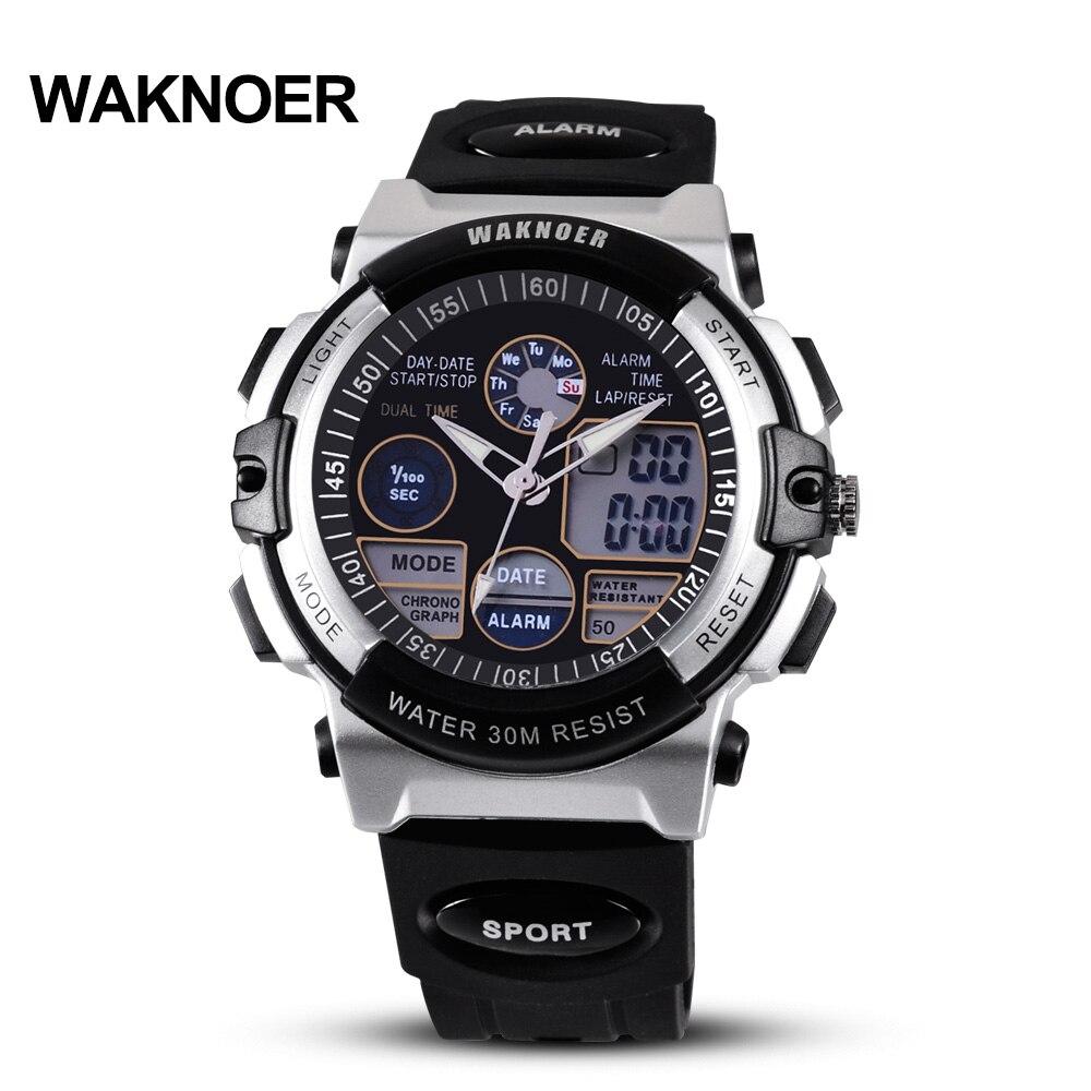 8d800a013b7 ... Digital de Moda Militares dos Multifuncionais Waknoer Relógios Homens à  Prova d  Água Relógio Esportes Assistir Kol Saat Relojes Hombre Montre ...