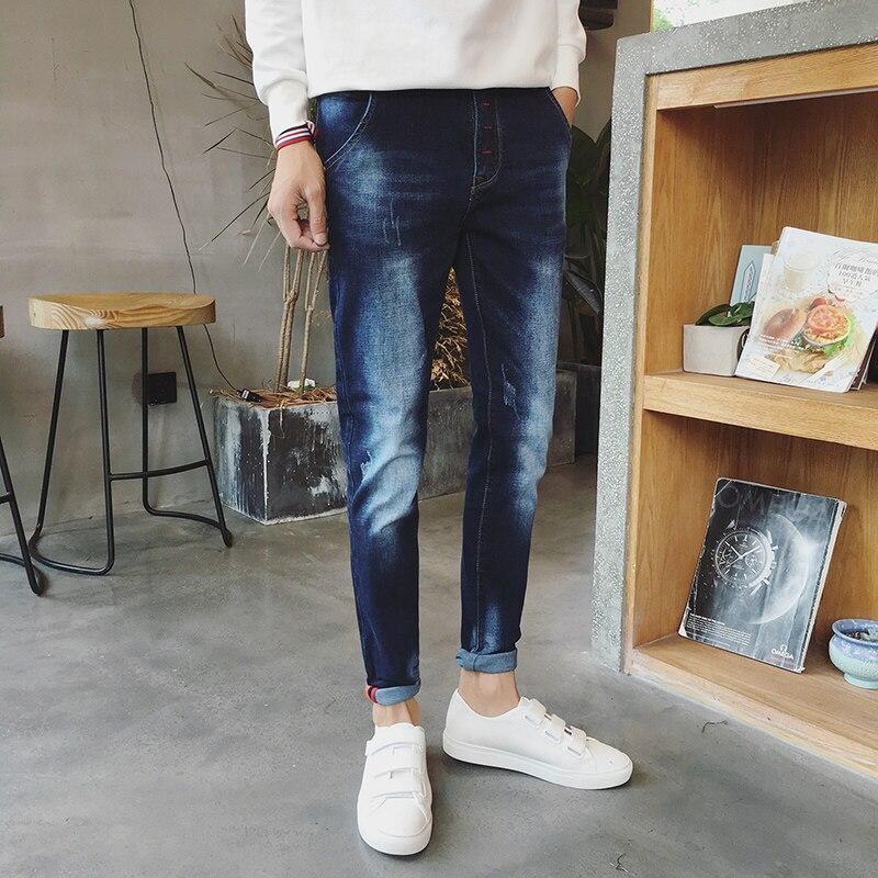 2017 new spring autumn jeans men causal fashion denim pants trousers cotton vintage harem jeans feet