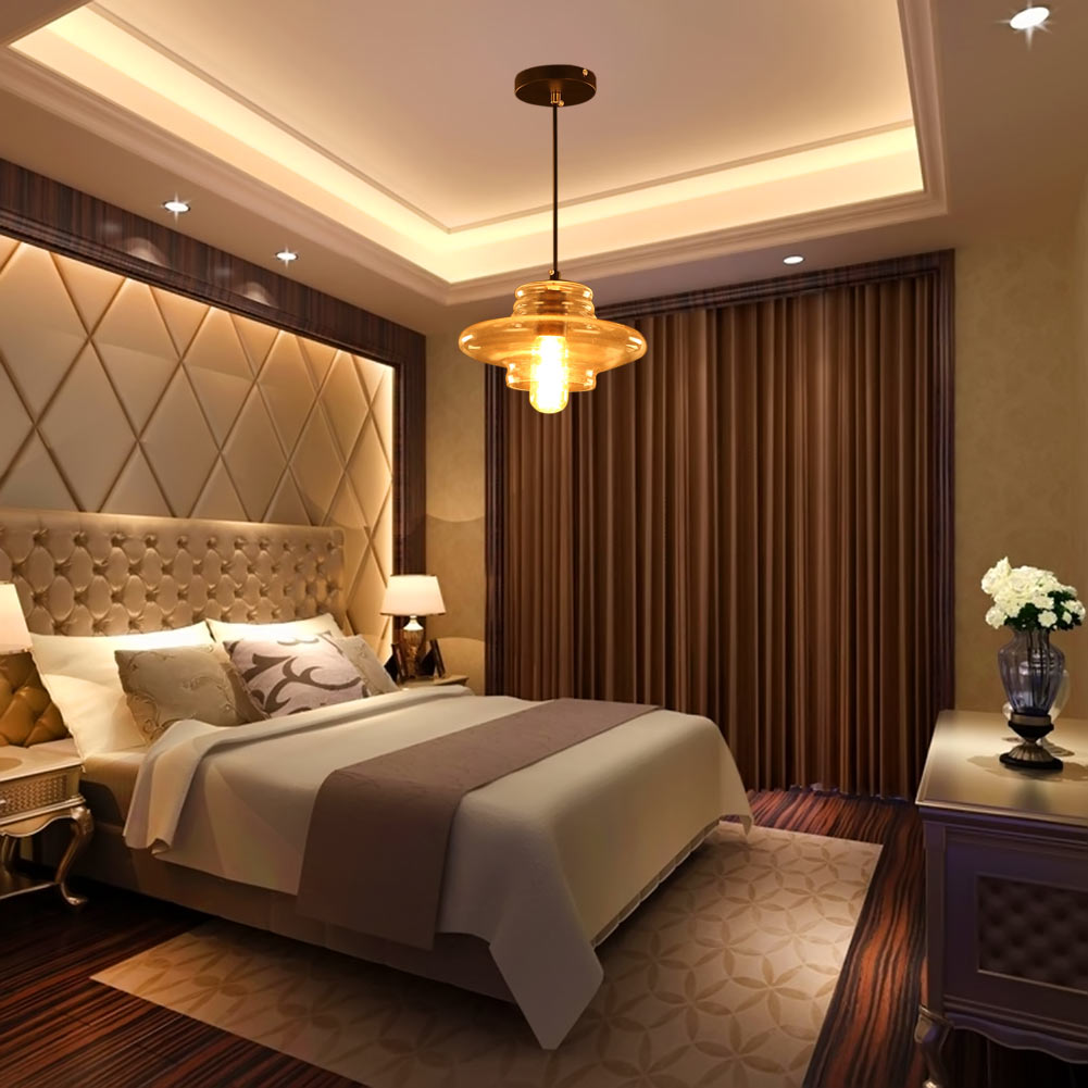 ФОТО Modern Home Decoration Thread Crystal Pendant Light E27 Fixtures Light for Restaurant/Bedroom