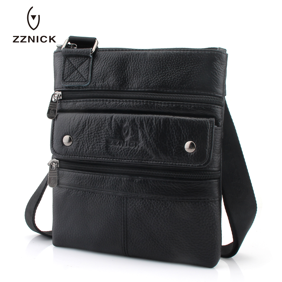Image 4 - ZZNICK 2020 Genuine Leather Men Messenger Bag Hot Sale Male Small Man Fashion Crossbody Shoulder Bags Mens Travel New HandbagsCrossbody Bags   -