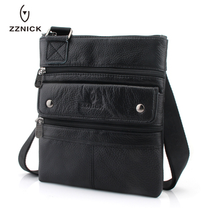 Image 4 - ZZNICK 2020 Genuine Leather Men Messenger Bag Hot Sale Male Small Man Fashion Crossbody Shoulder Bags Mens Travel New Handbags