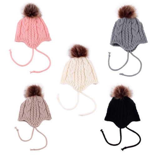 33422c365fc Aliexpress.com   Buy Lovely Baby Girl Toddler Kid Crochet Earflap Beanie  Winter Newborn Soft Cap Hat from Reliable Hats   Caps suppliers on hey