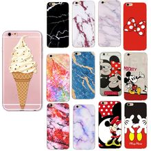 Cover Case For iPhone 7 8 Plus 6 6s Plus X XS Case Marble Minnie Mickey Cartoon Soft TPU Protective Case For Iphone 5 5S SE Capa(China)