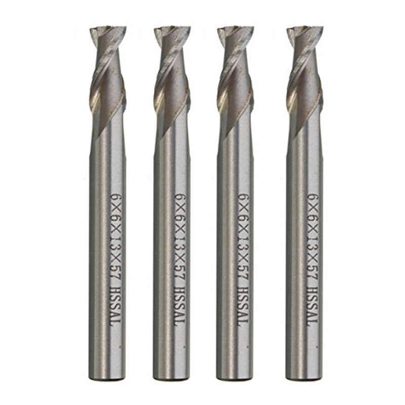 1 sztuk 6mm 4 flety HSS frez CNC frez Aluminium, drewno, Metal, wiertła do otworów