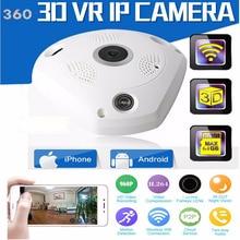 960 P H2.64 VR Wirelss Ip-камера Fisheye 360 Градусов Панорамный 3D Cam HD Ночного Видения WI-FI P2P Сети SD Карты Слот Домой безопасности