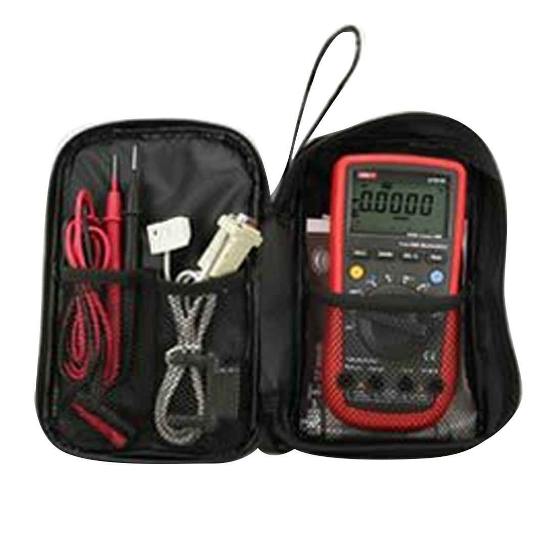 Durable  Waterproof Tools Bag Multimeter Black Canvas Bag For UT61 Series Digital Multimeter Cloth 20*12*4cm